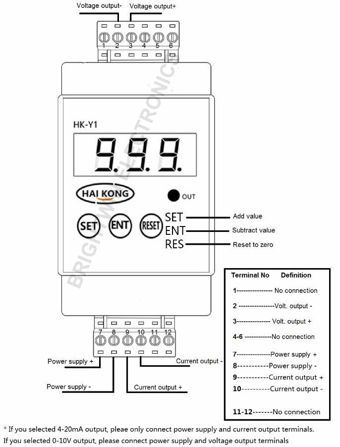 DC Current Voltage Signal Generator Wiring