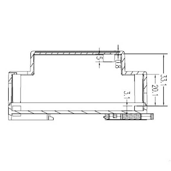Side View of DIN Rail-mounted 4-20mA 0-10V Generator Simulator Calibrator-Brightwin