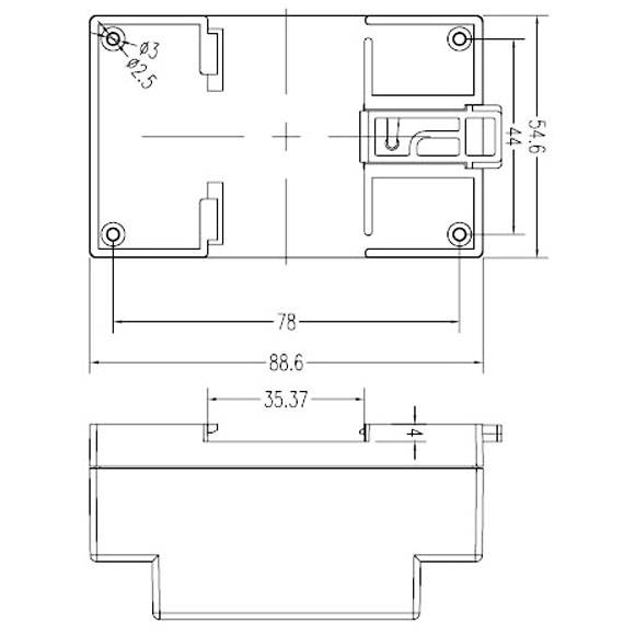 Dimension of DIN Rail-mounted 4-20mA Simulator Calibrator Generator