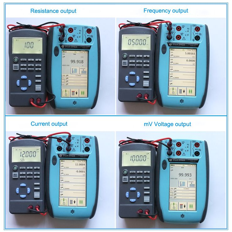 Process Calibrator with Resistance Frequency Current Voltage Output