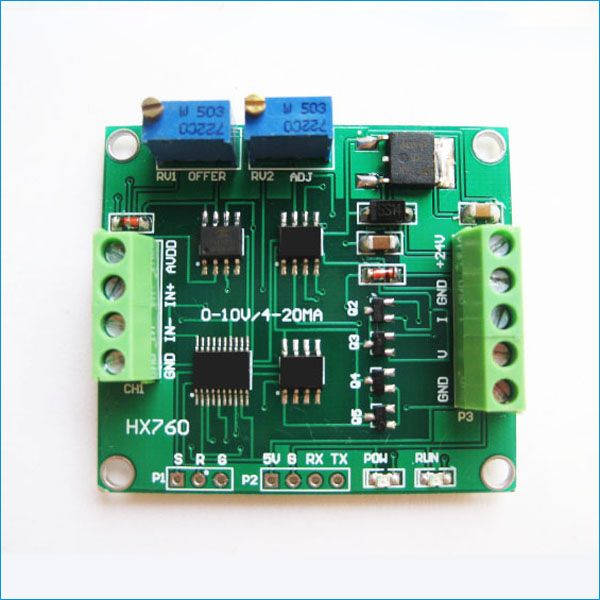 Load cell amplifier weight sensor 4-20mA 0-10V output