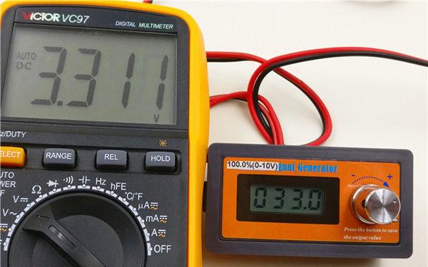 Analog 0-3.3V Simulator Generator Meter